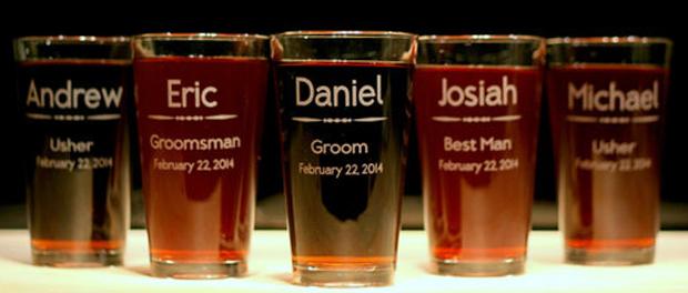 бокалы для друзей жениха