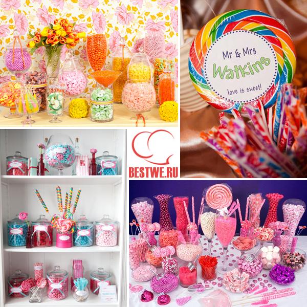 декор конфетной свадьбы